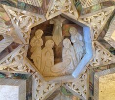 Vintage Mother of Pearl Carved Nativity