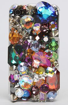 Cool 3D iPhone case with random jewels and bling on it