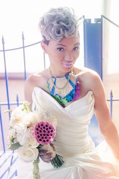 Modern Neon Wedding Inspiration Shoot from Erika Layne Photography
