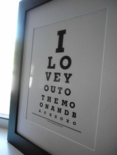 So tempted to get this in memory of my optician days.