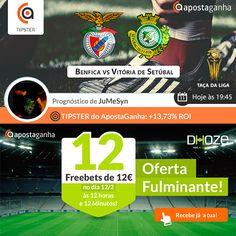 Em noite de Taça da Liga, deixamos-te aqui o prognóstico do Tipster JuMeSyn (+13,73% ROI) para o Benfica x Vitória de Setúbal, às 19h45:  http://www.apostaganha.pt/2015/02/10/benfica-vs-setubal-taca-da-liga/  #apostasonline #apostasdesportivas #futebol #benfica #setubal #taçadaliga #sportsbets