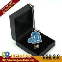 Novelty Gift Heart Nacklace USB Flash Stick 16GB