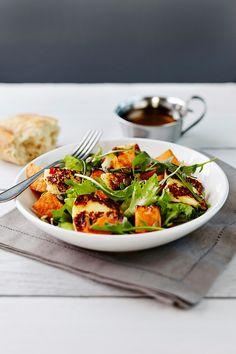 Bataatti-grillijuustosalaatti   Salaatit   Pirkka #salads