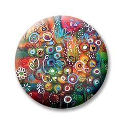 "Kristen Stein Enchanted Garden 5 (Magnetic) Design insert that fits into 1""Magnabilities interchangeable jewelry."
