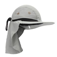 Men Women Boonie Snap Brim Ear Neck Cover Sun Flap Cap Hunting Fishing  Boating Hiking Hat 6255a00877b0
