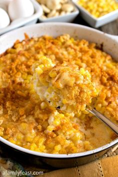 Best Thanksgiving Side Dishes - Nantucket Corn Pudding - Easy Make Ahead and Crockpot Versions of the Best Thanksgiving Recipes Thanksgiving Casserole, Best Thanksgiving Recipes, Vegetarian Thanksgiving, Thanksgiving Dinners, Thanksgiving 2020, Corn Pudding Recipes, Corn Recipes, Side Dish Recipes, Casserole Recipes