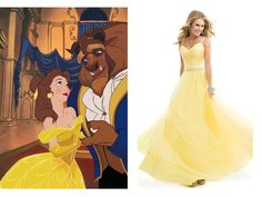 Disney inspired prom dress. Belle.