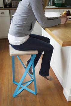 2point54_lofty cyan stool_with model