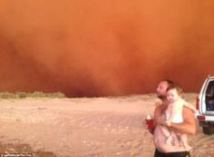 Wall of sand whipped up by Tropical Cyclone Narelle hits Onslow, Western Australia Dust Storm, Earth Wind, Strong Wind, Tug Boats, Wild Nature, Western Australia, Mail Online, Mother Nature, Cool Pictures