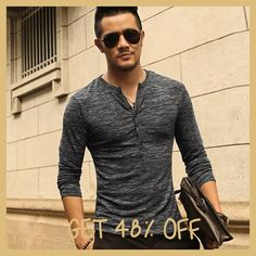 Cheap henley shirt, Buy Quality mens henley shirts directly from China slim fit t-shirt Suppliers: New Men Henley Shirt 2016 new Tee Tops Long Sleeve Stylish Slim Fit T-shirt Button placket Casual men Outwears Popular Design Henley Tee, Henley Shirts, Tee Shirts, Long Sleeve Henley, Long Sleeve Tops, Slim Fit, Mens Tees, Shirt Men, Ideias Fashion