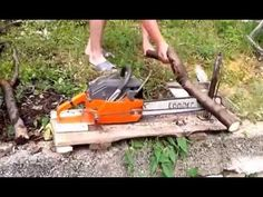 Homemade Log Wood Holder for Chainsaw Log Saw Bench Log Saw Saw Horse & Log Holder - YouTube