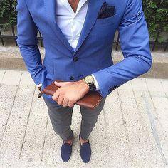 Men style fashion look clothing clothes man ropa moda para hombres Costume En Lin, Mode Costume, Gentleman Mode, Gentleman Style, Suit Up, Suit And Tie, Audemars Piguet, Suit Fashion, Mens Fashion