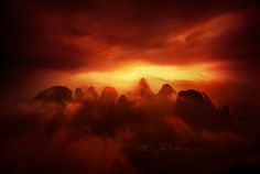 It was a very cloudy and moody sunrise and I thought not much would happen, but then I had the idea for this. Sometimes when things don't work out, you can work extra hard to try to make some lemonade out of the lemons. - Guilin, China - Photo from #treyratcliff Trey Ratcliff at http://www.StuckInCustoms.com