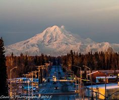 Awesome shot of Mt. Redoubt from Soldotna, Alaska! Photo by Cam Gibbs.