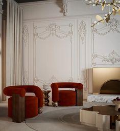 Classic Interior, Modern Interior, Home Interior Design, Maximalist Interior, Luxury Furniture, Furniture Design, Cool Furniture, Walnut Wood, Colorful Interiors