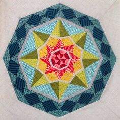 Diamond SuperStar pattern by Janice at Better Off Thread