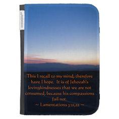 Lamentations 3:21-22 case for kindle #zazzle #kindlecase #lamentation