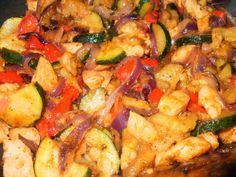 Tündér-konyha: Mediterán csirke Hungarian Recipes, Hungarian Food, Ratatouille, Poultry, Food To Make, Food And Drink, Chicken, Meat, Ethnic Recipes