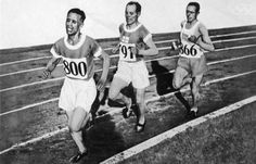 July Finnish athletes Paavo Nurmi and Ville Ritola with Edvin Wide of Sweden in the metre race at the Amsterdam Olympics. Nurmi won his last Gold Medal Amsterdam, Long Distance Running, Summer Olympics, Summer Winter, Track And Field, Olympic Games, Loneliness, Sweden, 1920