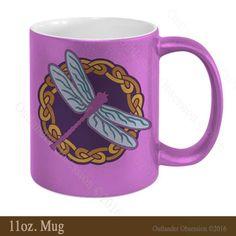 Outlander Dragonfly Mug - purple