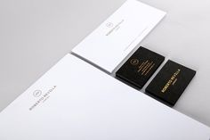 Stationery with copper foil finish for London based tailor Roberto Revilla designed by Friends
