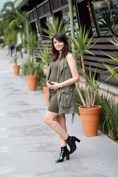 Look do dia: Colete verde militar | Just Lia
