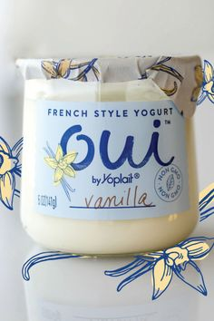 Vanilla Oui by Yoplait is nothing like your basic vanilla yogurt. It's French style Oui by Yoplait Vanilla. It's non-GMO. It's subtly sweet with a fresh taste. It's poured and set in its own glass pot. It's Oui.