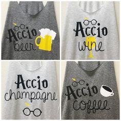 Harry Potter Shirt  Accio Wine  Harry Potter by LetsGetDecorative