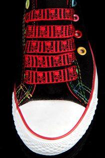 Kengännauhat -Pääkalloraita -Punainen 4€