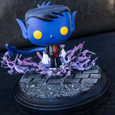 """By Raging Stegosaurus Customs (@raging_stegosaurus_customs) on Instagram: """"Custom Nightcrawler POP!  With a custom base.  I would have liked to customize him more,  like his…"""""""