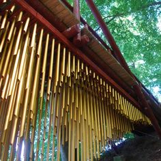 Mark Nixon of London studio CZWG has turned a bridge in Aarhus, Denmark, into a musical instrument by hanging metal pipes from the underside.