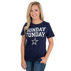 Dallas Cowboys Womens Sunday Funday Tee