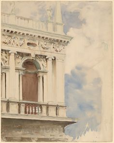 """The Library In Venice"", John Singer Sargent."