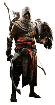 View an image titled 'Bayek & Senu Art' in our Assassin's Creed Origins art gallery featuring official character designs, concept art, and promo pictures. Arte Assassins Creed, Assassins Creed Origins, Assassins Creed Odyssey, Asesins Creed, All Assassin's Creed, Assassin's Creed Black, Assassin's Creed Wallpaper, Connor Kenway, Angel Warrior