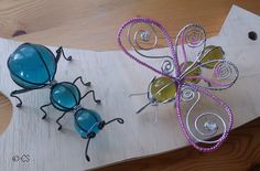 Bug Crafts, Wire Crafts, Diy And Crafts, Wire Art Sculpture, Light Bulb Crafts, Recycled Metal Art, Beaded Dragonfly, Welding Art Projects, Copper Crafts