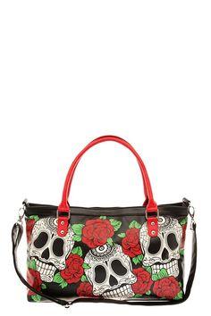 Folter - Rose Sugar Skull Handbag