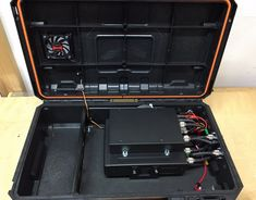 IMG_1259 Portable Ham Radio, Ham Radio Equipment, Marine Grade Plywood, Computer Fan, Pelican Case, Power Cable, Wifi, Radios, Weapons Guns