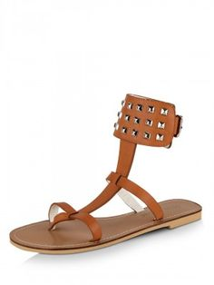 DONE BY NONE Riveted Strap Flats  at klip.in