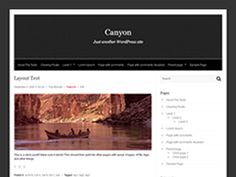 An elegant, versatile and magazine style theme with easy customization options. It features a modern design, post excerpts with thumbnails, header, background, fixed-width, widget-ready and threaded comments. Canyon theme also comes with custom Menus support and other cool features. Tested with major browsers - Mozilla Firefox, Internet Explorer, Opera, Safari and Chrome. Check Canyon Official Page in case you need directions.
