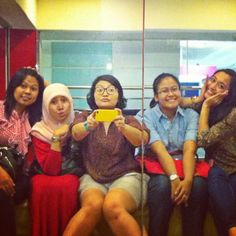 With my girls..