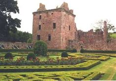 Edzell Castle:: Btwn the towns of Brechin and Montrose, Scotland.