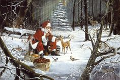 A Christmas Party..... by Ralph McDonald..... $300.00 30 x 20 Signed & numbered Edition of 50 Giclee Canvas FREE SHIPPING Christmas Puppy, Noel Christmas, Father Christmas, Christmas Music, Vintage Christmas Cards, Winter Christmas, Christmas Medley, Christmas Postcards, Woodland Christmas