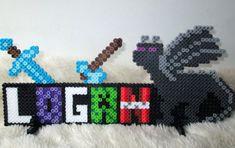 Hama Beads, Perler Bead Art, Fuse Beads, Minecraft Logo, Minecraft Pixel Art, Minecraft Ideas, Minecraft Characters, Creepers, Creations
