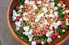Bønnesalat med vandmelon og feta