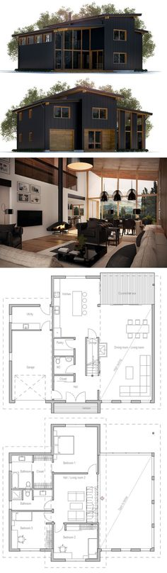 I kinda like this floor plan. But I would have a master bedroom instead of it…