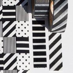 MT Deco Washi Masking Tape M. Monochrome/Stripe x Piano