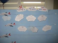 Travel-themed baby shower. This is an advice board for the new Mom. SUPER cute.