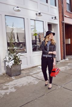 thoughtfulwish | fashion blogger // boston blogger // christian louboutin // red soles // parisian style // black and white fashion // kate spade // red car purse