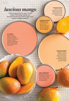 color inspiration:  mango and peach. #bhgcolor