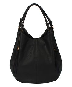 Look at this Amore Black Beda Hobo on #zulily today!